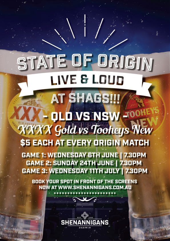 State of Origin at Shags