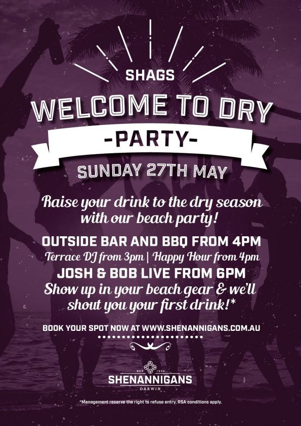 Welcome to Dry Party at Shags