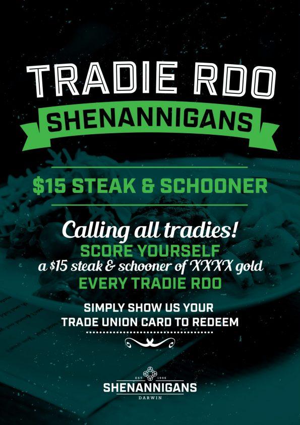 Tradie RDO at Shenannigans