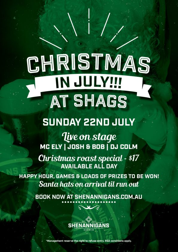 Christmas in July At Shags