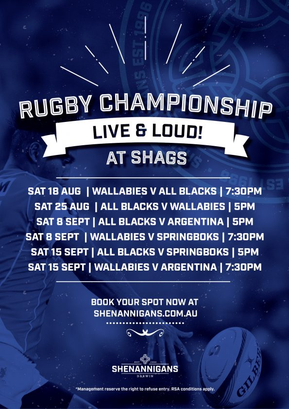 Rugby Championship at Shenannigans