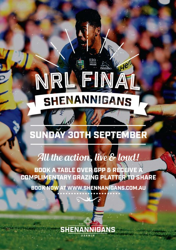 NRL Final Live at Shags