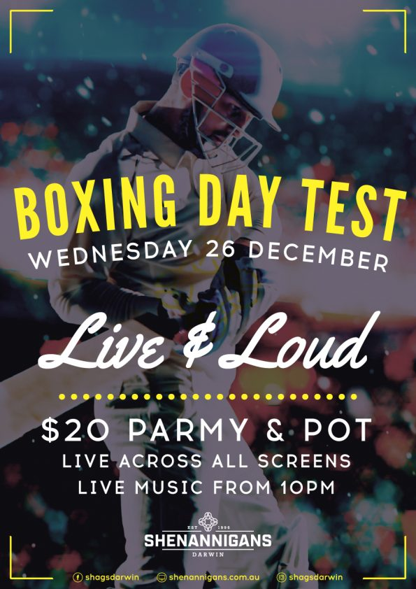 Boxing Day Test at Shags
