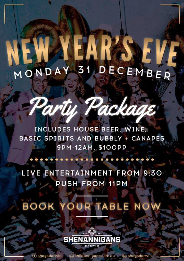 New Year's Eve at Shennanigans Shags Darwin